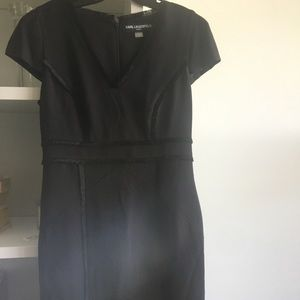 Karl Lagerfeld Black Sheath Dress